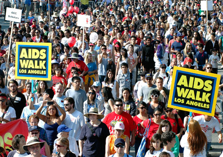 30,000 people turned out to walk six miles through West Hollywood to raise money for AIDS awareness and care programs.Photo by Amanda Riddle, L.A. Youth editor.